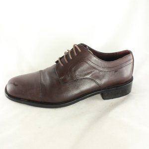 Stafford Classico Mahogany Leather Oxford Shoes